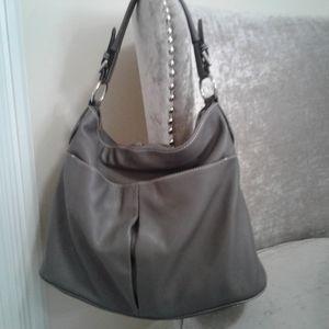 Danier Pebbled Leather Hobo/Shoulder Bag